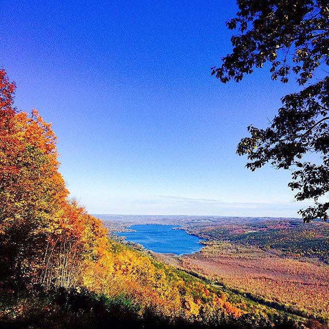 Beautiful weekend of leaf peeping ahead! Reports continue to say that most areas of Ontario County haven't reached a peak yet.