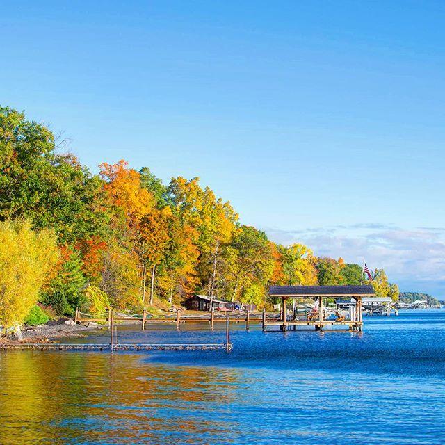 Fall colors at Seneca Lake.  |