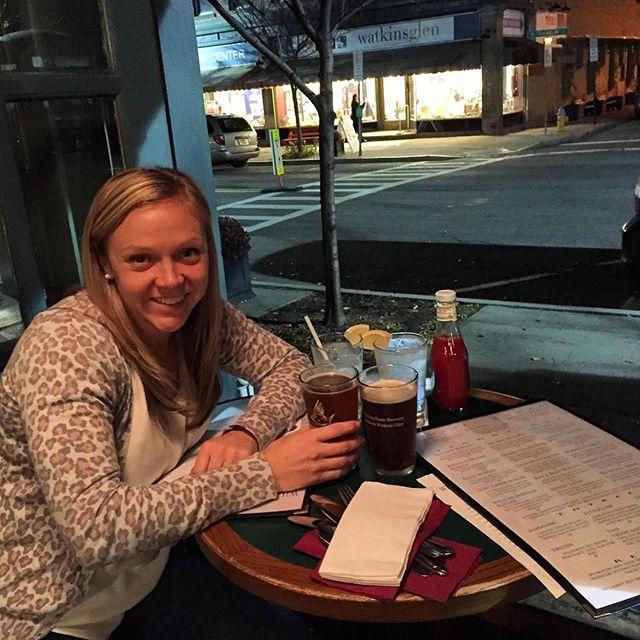 Literally eating outside on November 6th in western ny. Wild. @danidavis15