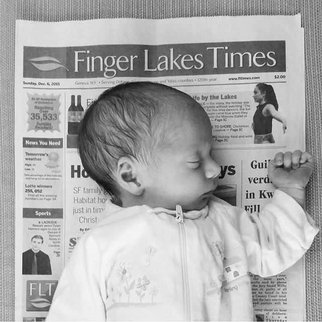 Thank you pinterest for this idea.... this is the newspaper from the day she was born!
