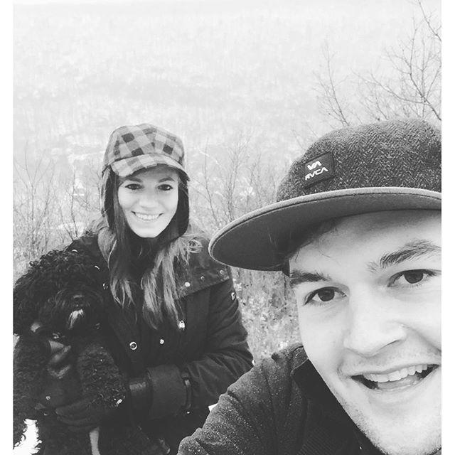 Winter hikin' with my woods Bae